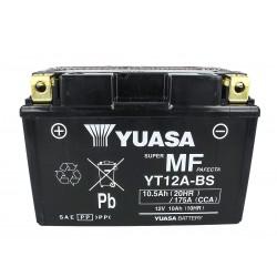 Batteria Moto YUASA YT12A-BS Con Acido 12V 10Ah 175A