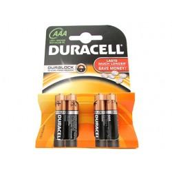 Pila Batteria Duracell Alkaline LR03 MN2400 Tipo Ministilo AAA 1,5V Confezione Da 4 Pile