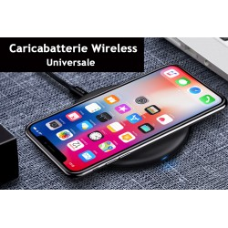 Caricabatterie Wireless Veloce Black 10W Slim QI per iPhone 8 iPhone 8plus iPhone X iPhone XL Samsung S6 S6 edge Note 5 LG G3 G