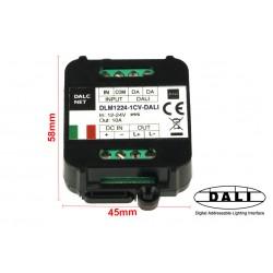 Dalcnet DLM1224-1CV-DALI Led Dimmer Bus DALI 12V 24V 10A Pulsante N.O. 0/1-10V Potenziometro
