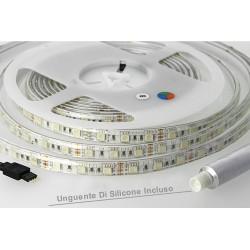 Bobina Led 300 SMD 5050 12V 10,8W/M RGB IP65 Impermeabile 5 Metri Unguente Di Silicone Incluso SKU-2155