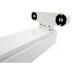 Porta Lampada Plafoniera Per Doppio 2 Tubi Led T8 da 120cm Interno Non Impermeabile IP20