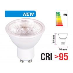 Lampada Led GU10 6W CRI 95 220V 38 Gradi Bianco Freddo 6400K Chip Samsung Garanzia 5 Anni Angolo Stretto SKU-7499