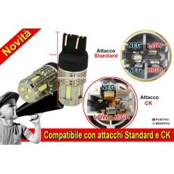 Lampada Led 7743 T20 12V 45W Bianco No Polarita Super Luminoso Compatibile Con Attacco CK Auto Americano