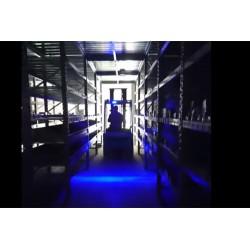 Lampada Fanale Faro Led Lineare Per Carrello Elevatore Muletto Luce Blue 12V-80V 30W Segnaletica Sicurezza
