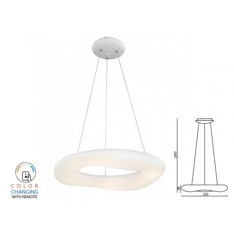 Lampada Led A Sospensione Moderno Circolare CCT Diametro 600mm 38W Dimmerabile Telecomando 3 In 1 SKU-3959