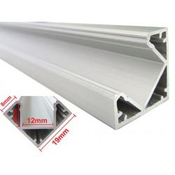 Profilo Canalina Barra Alluminio Led Anodizzato Angolare Corner Curva 90 Gradi Per Strip Led Fino a 12mm 1 Metro
