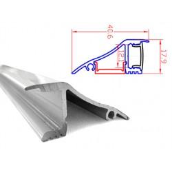 Profilo Canalina Barra Alluminio Led Da Muro o Da Soffitto Controsoffitto 1 Metro