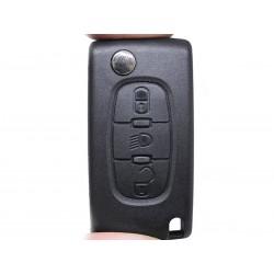Guscio Chiave Telecomando 3 Tasti Luce Con Lama HU83 Batteria Su Circuito Senza Transponder Per Peugeot Citroen Berlingo Fiat S