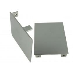 Coppia Tappi  Coperture Termine Per Chiusure Profilo Alluminio BA5570