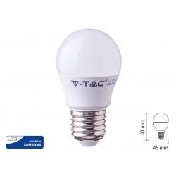 Lampada A Led E27 G45 7W Bianco Freddo 6400K Forma Sfera Bulbo Palla Con Smd Samsung SKU-868