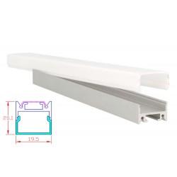 Diffusore Copertura Opale Quadrato Per Profilo Alluminio BA1814