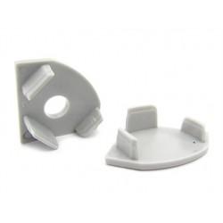 Coppia Tappi Tappini Termine Per Chiusure Profilo Barra Alluminio Angolare BA1919