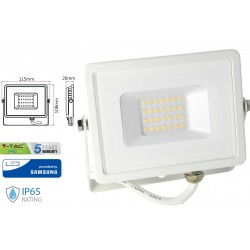 Faro Led Flood Light 10W IP65 Bianco Naturale Super Slim Carcassa Bianca Smd Samsung SKU-428