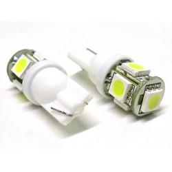 Lampada Led T10 W5W 5 Smd 5050 Bianco 12V