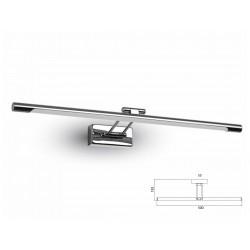 Applique Lampada Led Da Parete Moderna 8W Lunghezza 500mm 4000K Con Braccio Per Specchio Bagno e Quadri SKU-3894