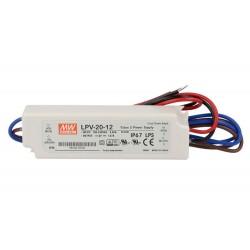 Alimentatore Trasformatore CV MeanWell LPV-20-12 Impermeabile IP67 12V 20W 1,67A