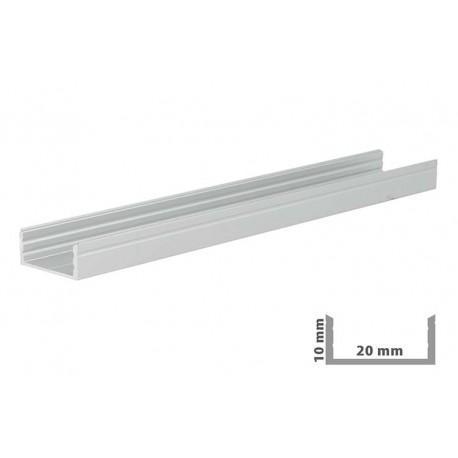 Profilo Canalina Barra Alluminio Larga Per Bobina Led Fino 20mm Larghezza 1 Metro