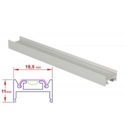 Profilo Canalina Barra Alluminio Led Da Soffitto e A Sospensione 1 Metro