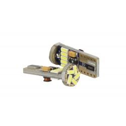 Lampadina Led Canbus T10 W5W 15 Smd 4014 Bianco No Errore Check Luci 12V Senza Polarita