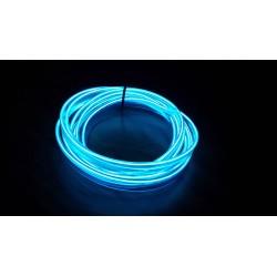 Stringa EL Striscia Neon Led Blue 5 Metri Flessibile Tagliabile Luce Decorativa Atmosfera Per Interno Auto Camion Camper Sfilat