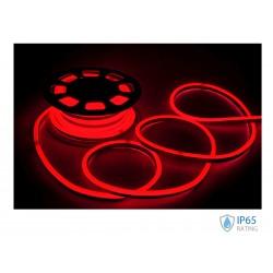 24V Bobina Led Neon Flex Colore Rosso Red 10 Metri IP65 8W/M SKU-2516