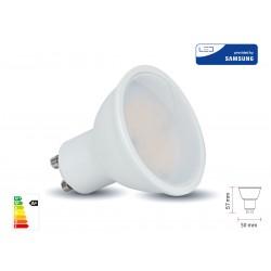 Lampada Led GU10 10W 1000LM 220V 110 Gradi Caldo 3000K Diffusore Opale Chip Smd Samsung Garanzia 5 Anni SKU-878