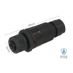 Connettore Manicotto di Collegamento IP68 3 Poli Modello Plug Play Maschio Femmina Piu Facile Max 2,5mmq