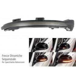Kit Freccia Specchietto Retrovisore Led VW Golf 7 E-Golf Sportsvan Touran Lente Fume Arancione Dinamico Sequenziale