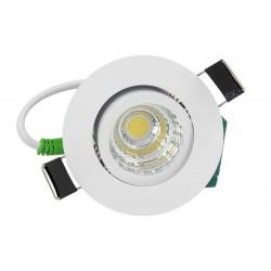 Lampada Faretto Led Da Incasso 5W Cob 220V Caldo 2700K Rotondo Foro 50mm Orientabile