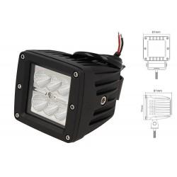 Fanale Luci Diurne A Led DRL Work Light Faro Da Lavoro Quadrato 12V 24V 24W (6X4W) IP67 Bianco