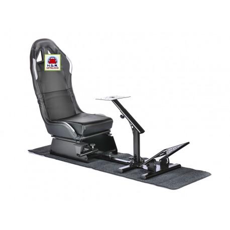 Simulatore Sediolino da corsa mod. SUZUKA Nero ARGENTO