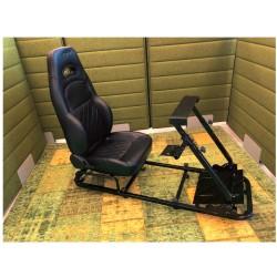 Simulatore Sediolino da corsa su PC e Console di gioco BLACK