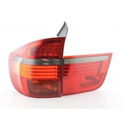 POSTERIORI LED BMW X5 E70 06-10 NERO/ROSSO
