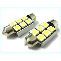 T11 C5W 36mm 6 SMD 5050 12V LED