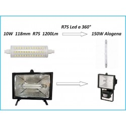 Lampada Led R7S Lineare 118mm 10W