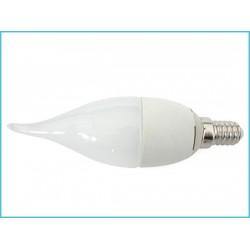 Lampada A Led E14 CF37 6W  Forma Candela Fiamma Colpo Di Vento 240° 220V