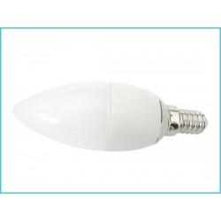 Lampada A Led E14 CF37 6W Forma di Goccia Oliva Candela