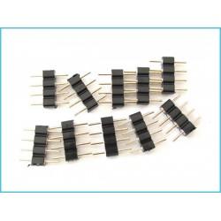 10 pz Spina Maschio 4 Pin Per Connessione Striscia Led RGB Centralina Controller RGB