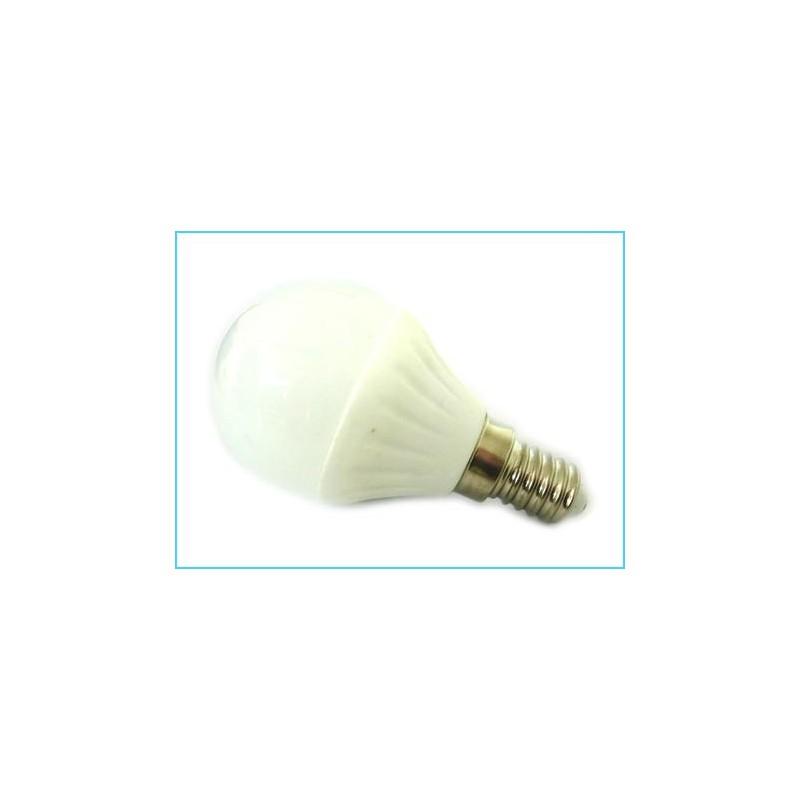 10 lampade led bulbo sfera e14 220v 4w 45w bianco freddo for Lampade led 220v