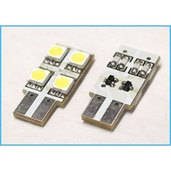 Led laterale T10 W5W 4 Smd 5050 No Polarità Bianco 12V