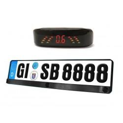 Portatarga con Sensori di parcheggio con Display Acustico