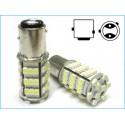 Lampada Led BAZ15D P21/4W 54 Smd Piedi Storti Asimmetrica Bianco 12V