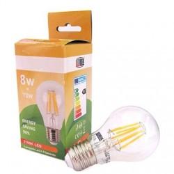 Lampada Led Con Filamento E27 A60 8W