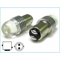 BAY15D 1157 P21/5W 2W 12V Power Led 360° Bianco