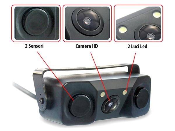 Plafoniere Con Telecamera : Telecamera di retromarcia su portatarga con sensori