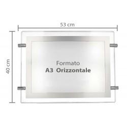 Espositore Pubblicita  A3 Orizzontale Luminoso LED