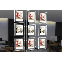Espositore Pubblicita  A4 Verticale Luminoso LED
