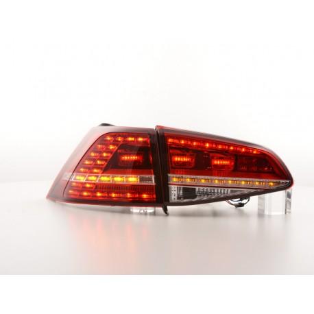 POSTERIORI LED GOLF 7 chiaro/rosso