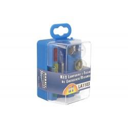 Kit H1 Lampade Ricambio Emergenza Alogena Auto Bulbset  12V 3 Fusibile (8 pz)